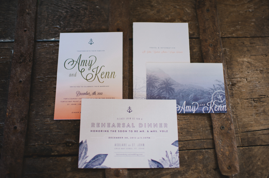 Stationery, blue, Beach, Invitations, Wedding, Amy kenn