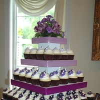 Cakes, purple, black, silver, cake