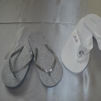Shoes, Fashion, white, silver, Flip, Flops