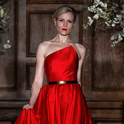 Wedding Dresses, Fashion, red, dress, Fall, Ready, To, Wear, Keveza, Romona, 2013, Fall Wedding Dresses