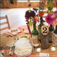 DIY, Reception, Flowers & Decor, Decor, brown, Centerpieces, Rustic, Outdoor, Rustic Wedding Flowers & Decor, Centerpiece, Table, Number, Marker, Wooden