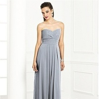 gray, Platinum, Bridesmaid, After, Sweetheart, Strapless, Chiffon, Dessy, Six, 6669