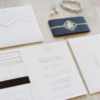 Stationery, black, Invitations, Tie, Cream, Formal, Scott sarah