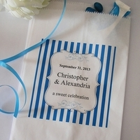 Reception, Flowers & Decor, Favors & Gifts, blue, Favors, Bags, Candy, Buffet, Inspiration board