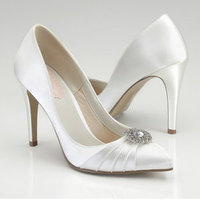 Shoes, Fashion, white, ivory, silver, Wedding, Heels, Shoe, Satin, Sparkly, satin wedding dresses