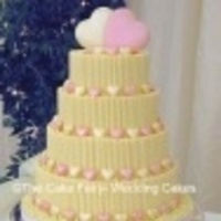 Cakes, white, yellow, pink, cake