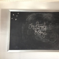 Reception, Flowers & Decor, black, silver, Inspiration board, Chalkboard
