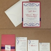 red, purple, Invitationidea1