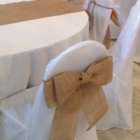 Ceremony, Reception, Flowers & Decor, brown, Chair, Burlap, Bows