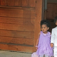 Ceremony, Flowers & Decor, white, purple, Flower girl, Ring bearer