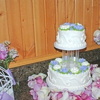 Reception, Flowers & Decor, Cakes, white, purple, cake, Lavender