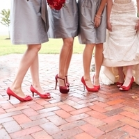 Bridesmaids, Bridesmaids Dresses, Shoes, Fashion, red, gray, Grey, Stephanie johnny