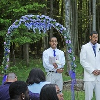 Ceremony, Flowers & Decor, white, purple, Groom, Bestman