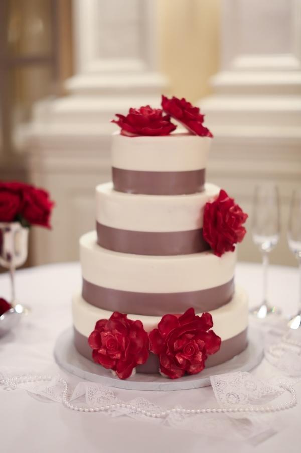 Cakes, red, Modern, Wedding, Simple, Stephanie johnny