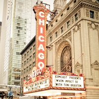 Bride, Groom, Portrait, Chicago, Theater, Natalia michael