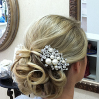 Beauty, white, silver, Updo, Glam, Wedding, Hair, Old, Hollywood, 1940s