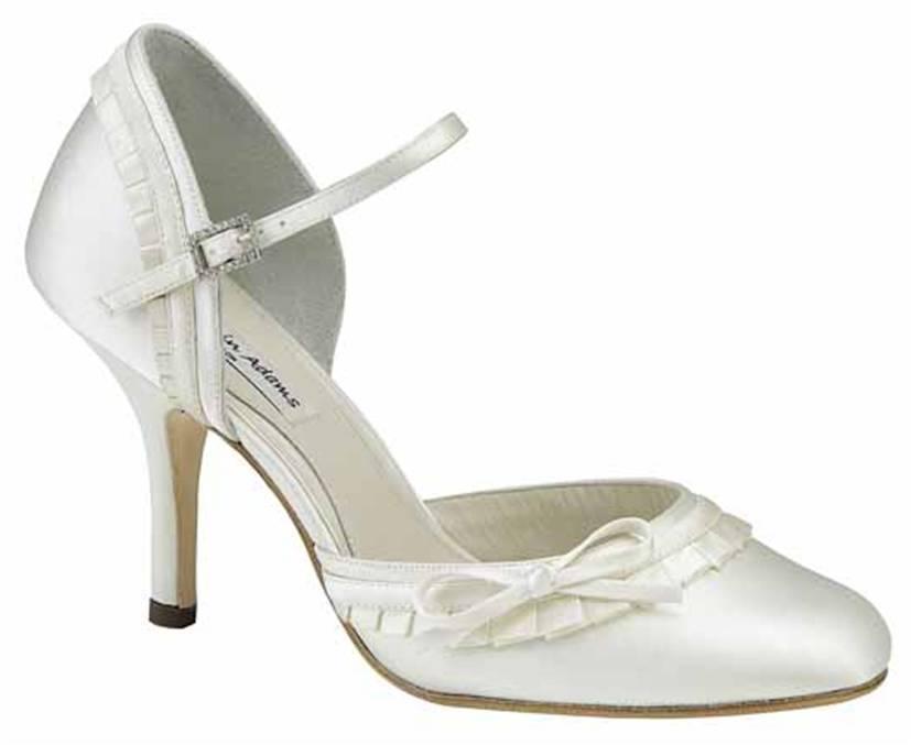 Ceremony, Flowers & Decor, Shoes, Fashion, white, ivory, Wedding, Bridal, Heels, Satin, Bow, Heel, Benjaminadams, satin wedding dresses