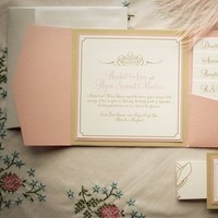 Stationery, white, orange, invitation, Invitations, Wedding, Peach, Card, Pocket, Folder, Inspiration board
