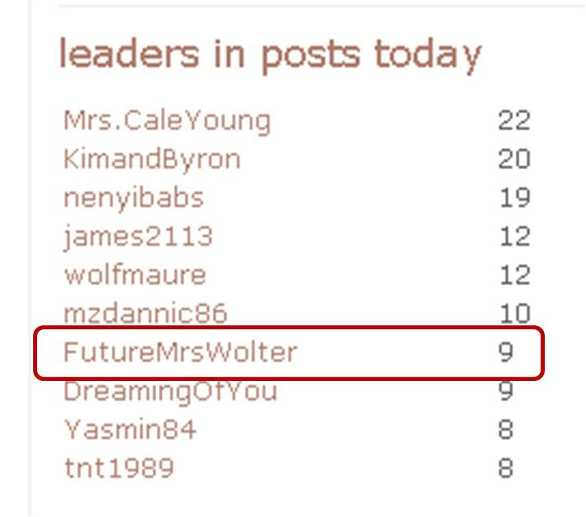 Posts, Pw, Projectwedding, Topics, Chatterbox, Postleader, Convo, Forums, Futuremrswolter