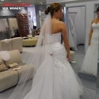 Wedding Dresses, Veils, Fashion, white, ivory, dress, Veil, Tulle, Crystals, Sworskycrystals, Chapelveil, Longveil, tulle wedding dresses