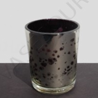 Reception, Flowers & Decor, black, silver, Candle, Votive, Glass, Mercury