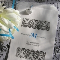 Reception, Flowers & Decor, Favors & Gifts, black, favor, Favors, Bags, Lace, Candy, Buffet, Inspiration board, Treat