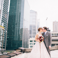 Modern, Portrait, Kiss, First, Couple, Look, Chicago, Indie, Roof, Hannah joe