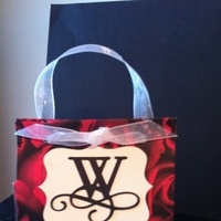 Reception, Flowers & Decor, Favors & Gifts, white, ivory, red, favor, Favors, Bags, Candy, Ribbon, Crimson, Baggies, Goodiebags