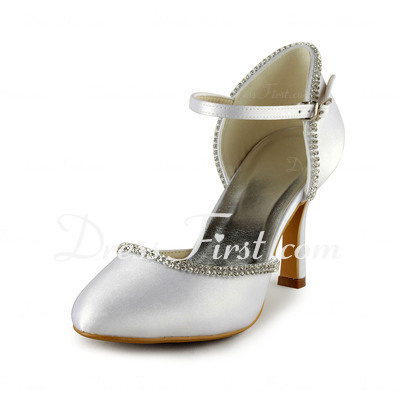 Ceremony, Flowers & Decor, Shoes, Lace Wedding Dresses, Fashion, white, ivory, silver, Lace, Heels, Satin, Bling, Diamonds, Cz, Sparkly, Weddingheels, Weddingshoes, Maryjaneheels, Closedtoes, Maryjaneshoes, Ceremonyheels, Mediumheels, Lowheels, satin wedding dresses