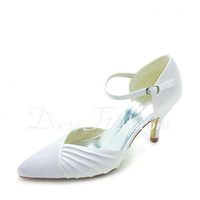 Ceremony, Flowers & Decor, Shoes, Lace Wedding Dresses, Fashion, white, ivory, silver, Lace, Heels, Satin, Weddingheels, Weddingshoes, Maryjaneheels, Closedtoes, Maryjaneshoes, Ceremonyheels, Mediumheels, Lowheels, satin wedding dresses