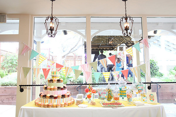 Cakes, Summer, Candy, Bar, Desserts, Casual, Rainbow, Pastel, Bunting, Wendy mike