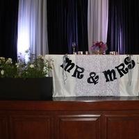 Reception, Flowers & Decor, white, black