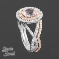 Jewelry, white, gold, Wedding, Diamond, Inspiration board, Set, Tone, Two, Morganite