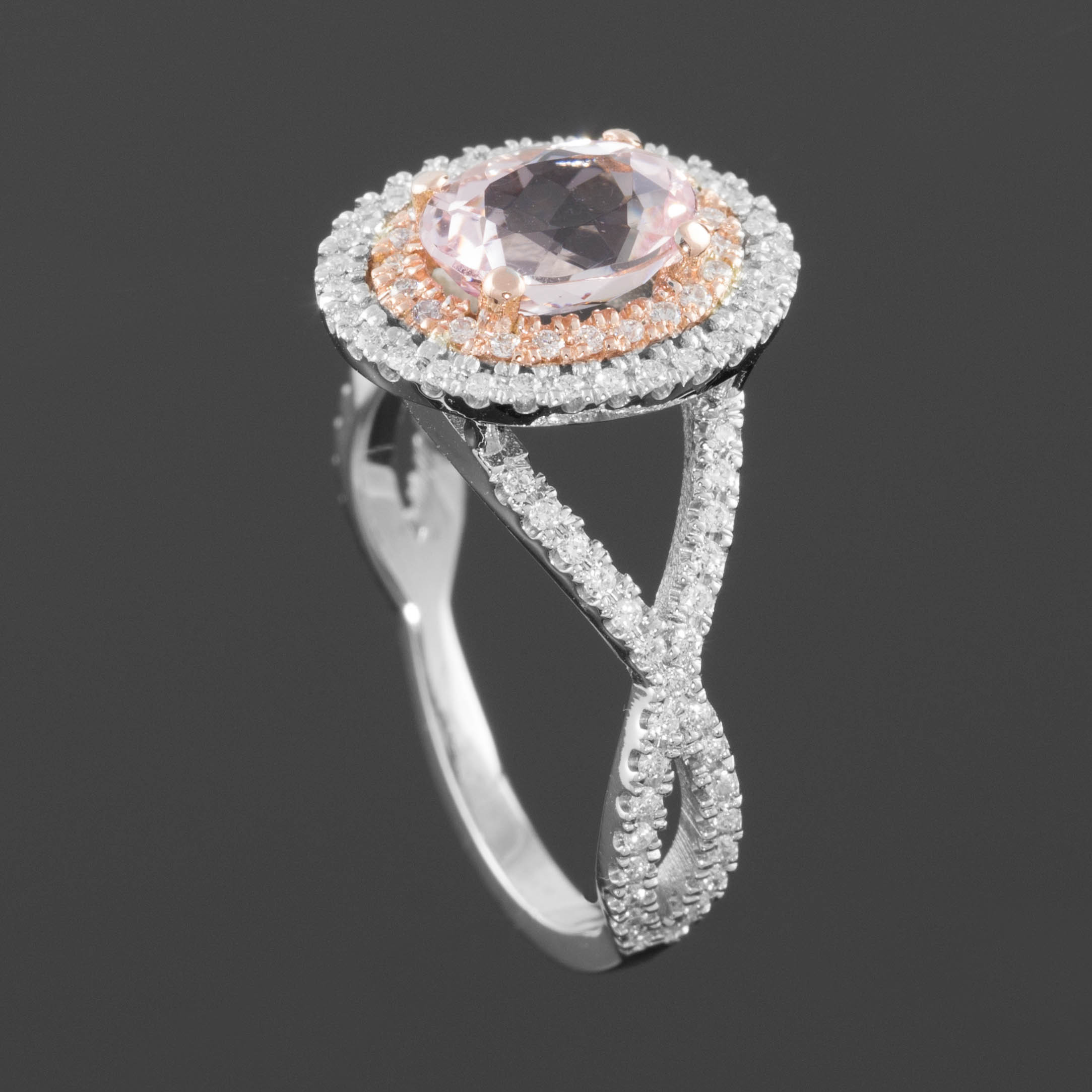 Jewelry, white, pink, silver, gold, Engagement Rings, Ring, Engagement, Diamond, Inspiration board, Twisted, Shank, Morganite
