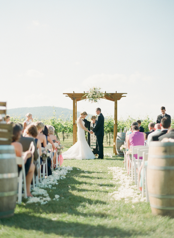 Ceremony, Flowers & Decor, pink, Classic, Vineyard, Southern, Site, Altar, Feminine, Pastel, Julie tim