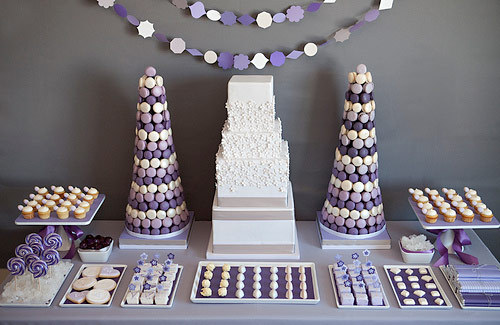 Cakes, purple, Other Wedding Desserts, Wedding Cakes