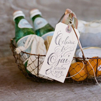 Favors & Gifts, green, Favors, Welcome, Basket