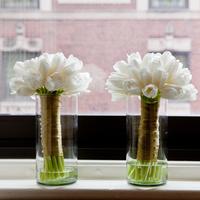 white, Bouquet, Bridesmaid, Tulips, Bouquets, Natalia michael