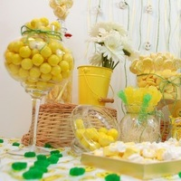 Reception, Flowers & Decor, Favors & Gifts, Cakes, white, yellow, green, cake, Favors, Inspiration board