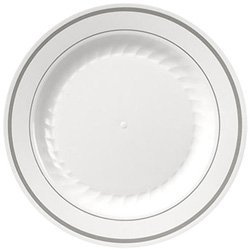 Reception, Flowers & Decor, Registry, white, silver, Place Settings, Plates