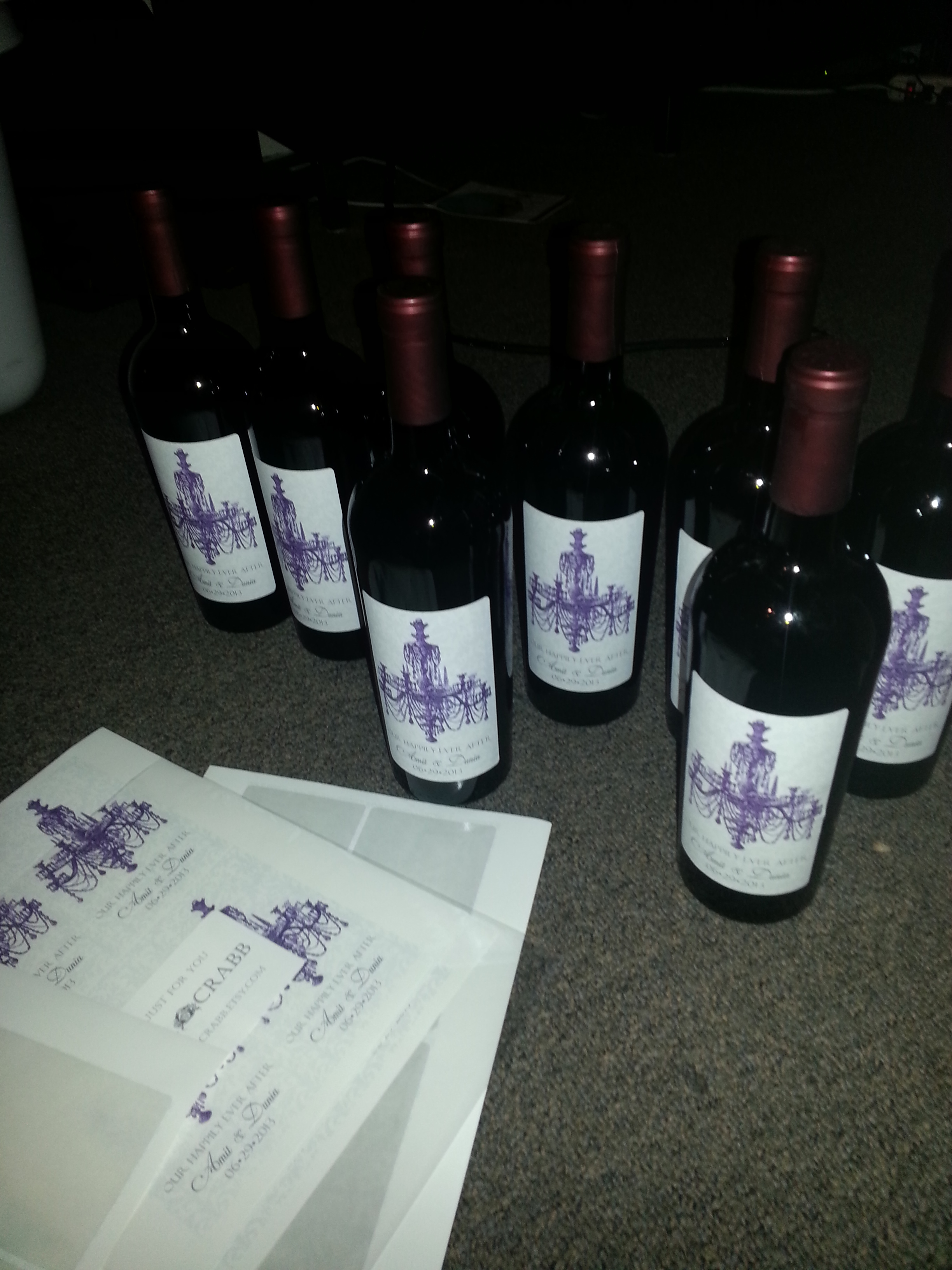 Reception, Flowers & Decor, purple, Wine, Labels