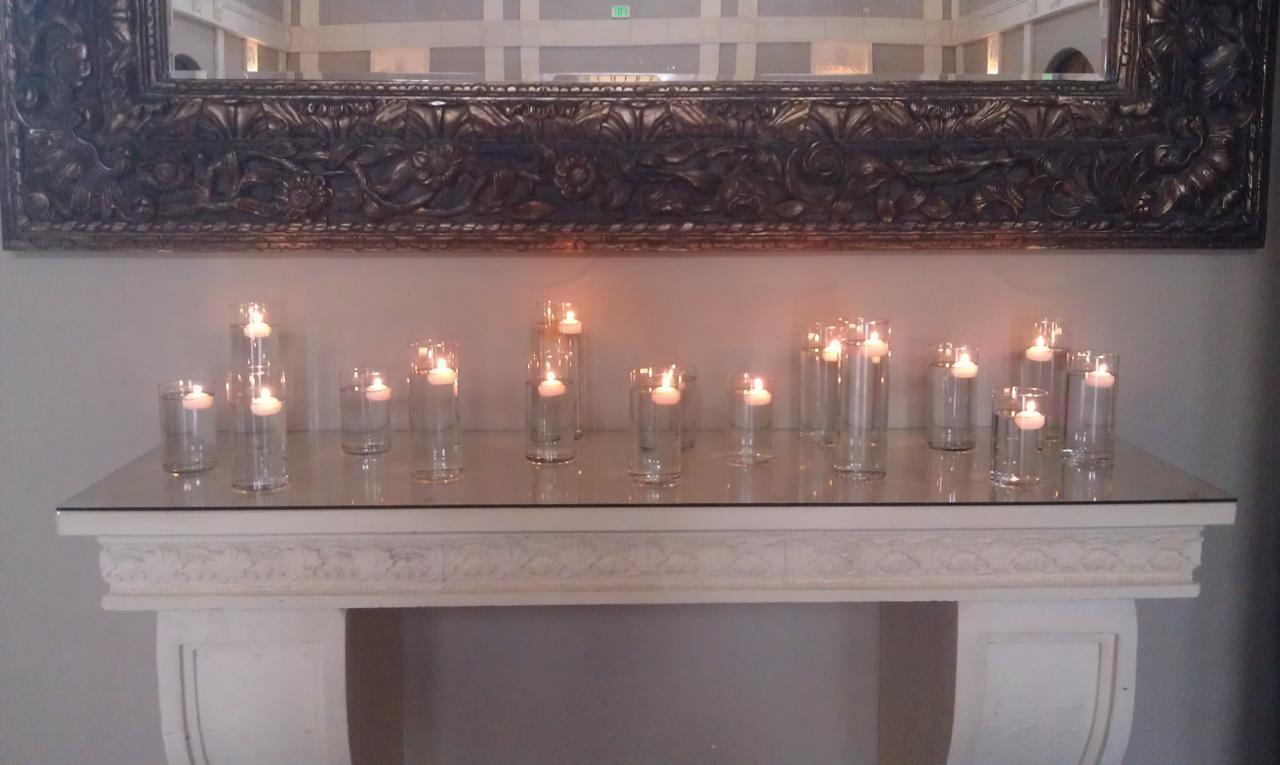Reception, Flowers & Decor, white, silver