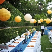 Reception, Flowers & Decor, orange, blue, Flowers