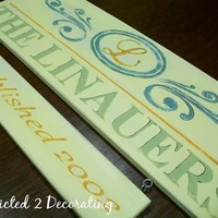 DIY Hand Painted Family Sign