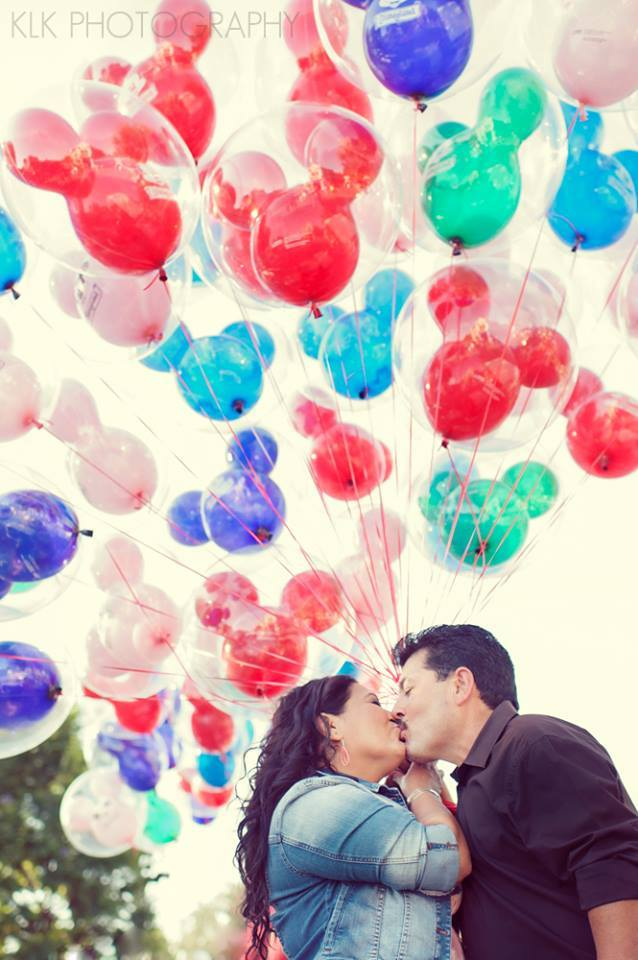 red, blue, green, Disneyland, Anniversary photo shoot