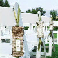 Making Rustic Birch Aisle Signs