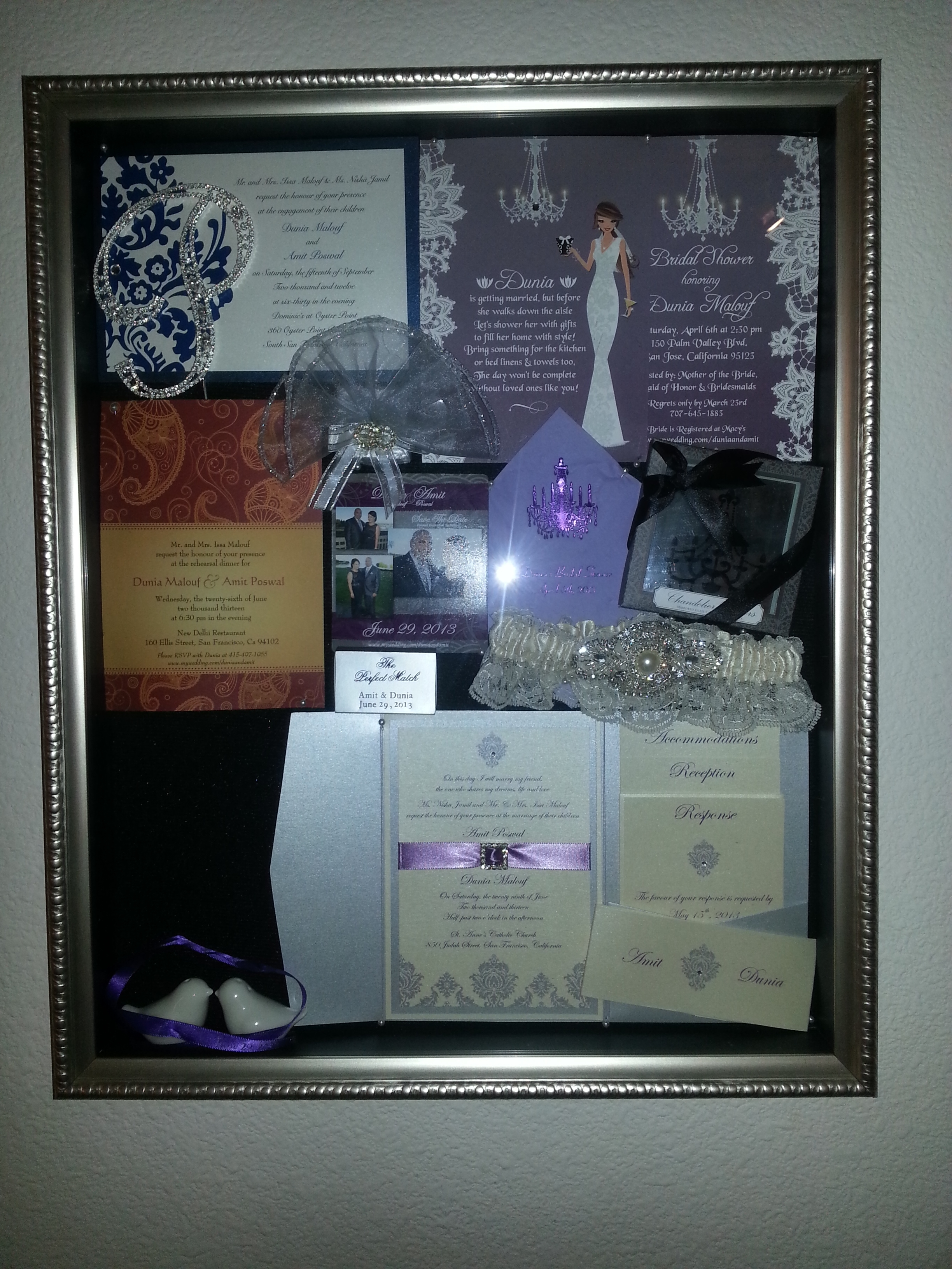 Ceremony, Reception, Flowers & Decor, Favors & Gifts, Stationery, white, purple, silver, Favors, Invitations, Inspiration board