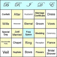 Bridal Shower Games - Bingo!
