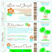 DIY Wedding Challenge: Boarding Pass STDs or Invites w/Luggage Tag Favors
