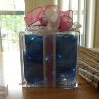 DIY Wedding Challenge 2010: Lit Gift Box Centerpieces
